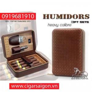 Bao da đựng xì gà lubinski 4 điếu N001