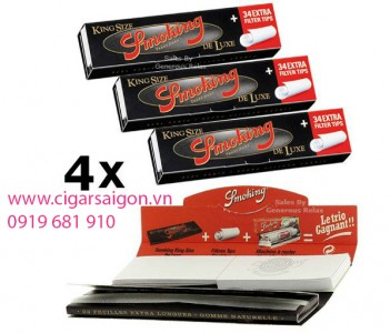 Giấy cuốn thuốc lá Smoking Kingsize Deluxe Filter Tips