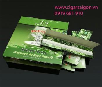 Giấy cuốn thuốc lá cuộn tay Hornet Menthol 1 1/4