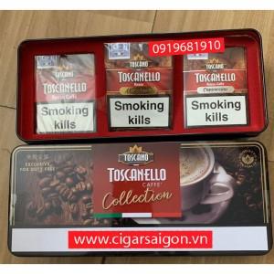 Xì Gà Làm Quà Tặng Toscanello Caffe Collection TIN (Rosso 2, Macc 2, Cappu 2)