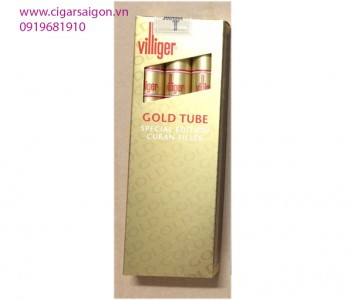 Xì Gà Villiger Gold Tube Special Edition Cuban Filler-Hộp 3 điếu